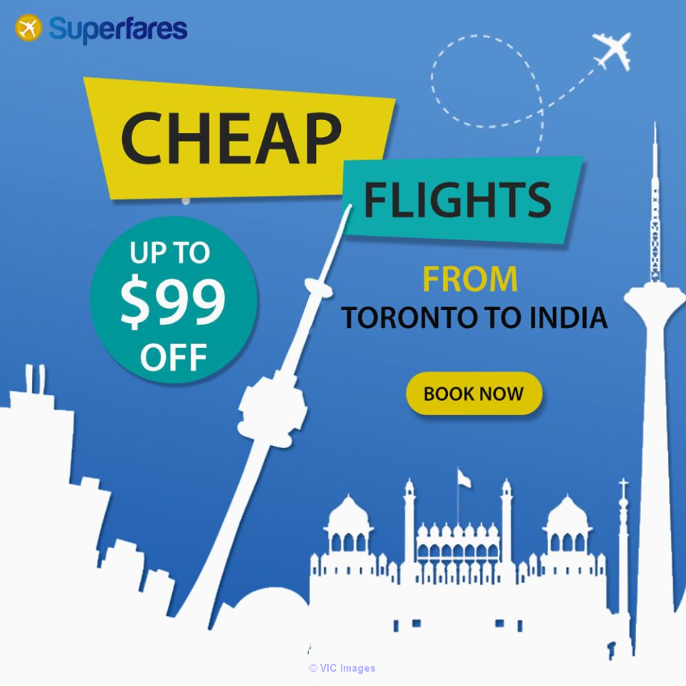 Grab Toronto to India flights edmonton